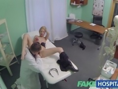 orny doctor gives sexy slim blonde multiple orgasms
