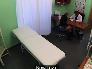 Sexy Novakova gets cured by doctors cock