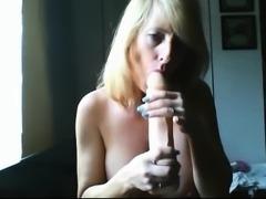 Mature MILF Licks A Long Shaft