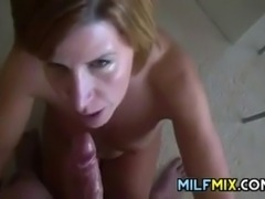 My wife giving me an awesome blowjob and she gets a facial