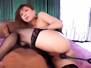 Rin Sakuragi has a good time playing with mans cum loaded dick