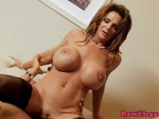 Glam euro busty mature in stocking gets roughly fucked