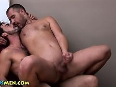 Gay stud gets ass fucked hard