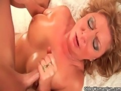 Horny grandma gets her pussy fisted by guy half her age free