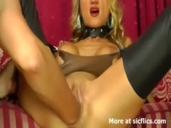 Stunning blond loves huge fisting orgasms free