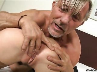 Christoph Clark inserts his ram rod in lovely Morgan Moons mouth after asshole fucking