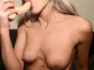 Sloppy Deepthroat From Tiny Blonde