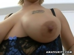 Chubby amateur Milf sucks and fucks with facial free