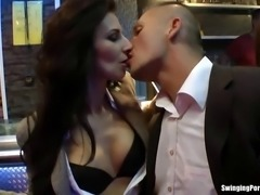 Shameless party bitches sucking large cocks hard in public