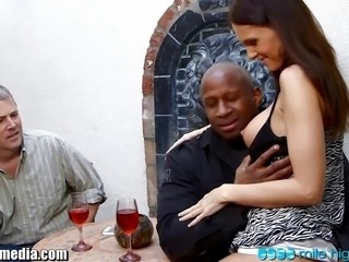 Prince Yahshua and  Jennifer Dark fuck while husband watches