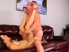 This horny brunette slut loves riding cock anyway she can