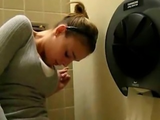 Amateur Babe Masturbating In Public Rest Room