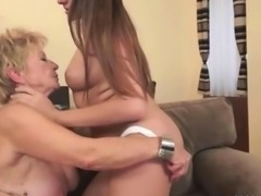Grannies and Teens Licking and Sex Compilation