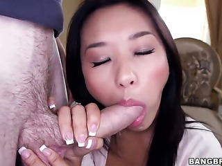Oriental gets her bush fingered by Alyssa Lynn in girl-on-girl action for your viewing pleasure