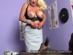 Mature blonde devours sucks brotha and gets her twat...
