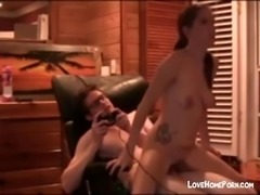 Here is great amateur video of Cute inked brunette loves cum in her mouth