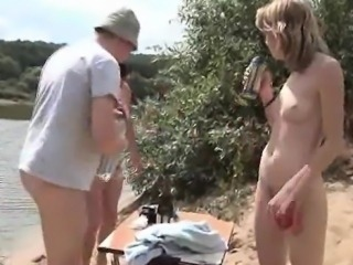 Real beach orgy with naked swingers