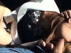 Mature asian milf in car sucking dick