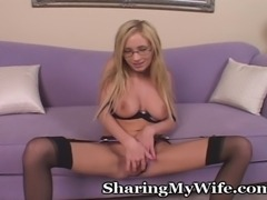 Always ready to have her pussy get some good play, she takes things into her...