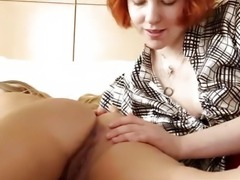 Girls Out West - Wet hairy and shaved lesbian cunts licked