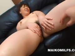 Japanese MILF Junko Takeyama's pussy is dripping as it gets toyed with...