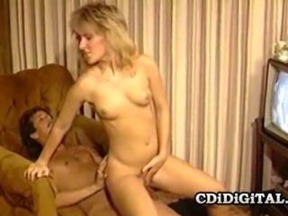 Cute horny babe Lauren Hall gets fucked by her lover while watching porn.