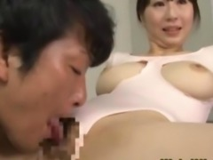 Flexible oriental doll licked and sucks