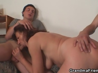 Old bitch makes them horny