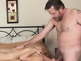 Small tits ho sucking cock
