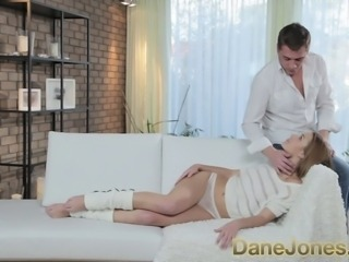 DaneJones Natural young girl enjoys foreplay before passionate romantic sex...
