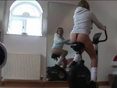 Mature british hooker works out