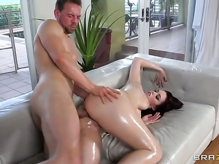 With big bottom is out of control with Erik Everhards throbbing pole in her...