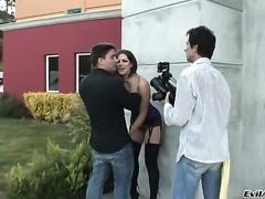 Manuel Ferrara loves fabulously hot Bobbi StarrS ass and fucks her as hard as...