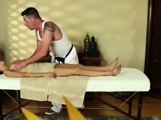 Trinity blows at massage center