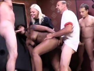 Ebony Nikki Ford facialed bukkake style by  big white dicks