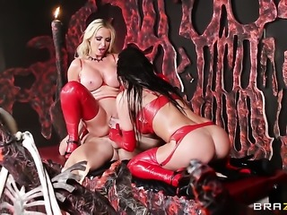 Johnny Sins buries his sturdy man meat in dangerously horny Nikki Benz...