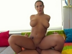Busty girl Kyra Hot in action