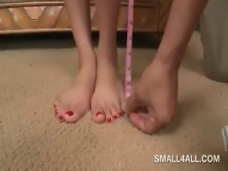 Teenage sweetie getting her tiny sexy body measured free