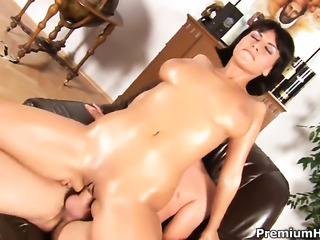 Veronika with giant breasts is wet all the time cuz she loves to fuck but...