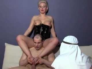 Mistresses show Arab Slaves what really awaits them in Heaven