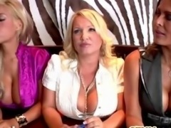 CFNM femdom Rachel Love makes dude cum