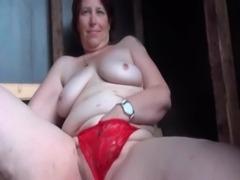 Outdoor cunt masturbation with mature free