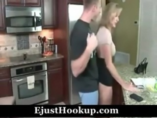 jodi west mom and son in kitchen free