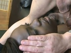 Horny Black Ghetto Slut Bella Doll Face Fucked