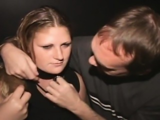 Porn Theater Cum Slut Freak On a Leash!