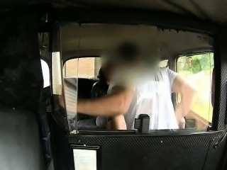 Huge juggs slut nailed by pervert driver for a free fare