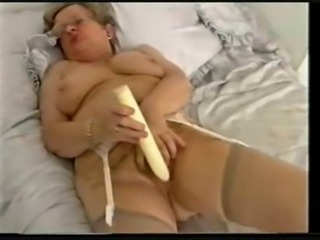 Old granny still loves to have fun. Amateur