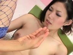 Hairy jap slut extreme deep fisting