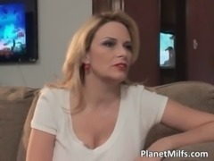 Every boy dream - busty MILF who sucks free