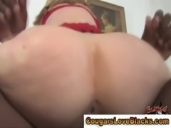 Blonde nasty interracial milf sucks and fucks free